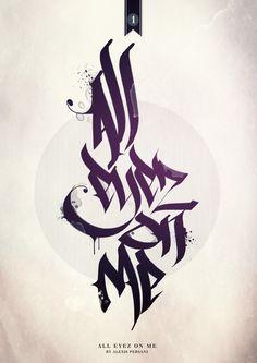 /// Black & purple calligraphy /// by Alexis Persani, via Behance