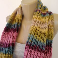 fashion knitted scarf winter . infinity scarf by senoAccessory