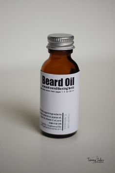 Beard Oil...a conditioning tonic for soft, manageable facial hair