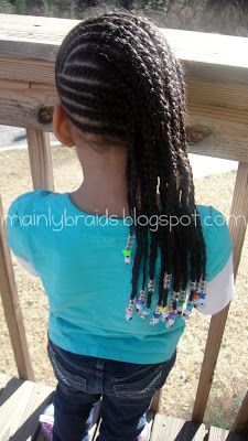 mainly braids: braids to the side