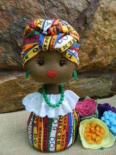 Risultati immagini per peso de porta elo 7 African Dolls, African American Dolls, Sewing Toys, Sewing Crafts, Sewing Projects, Doll Crafts, Diy Doll, African Crafts, Soft Dolls