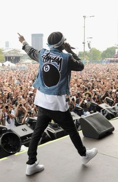 A$AP Rocky wearing Nike Air Force 1 Mid