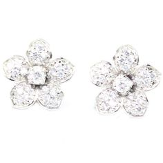 AMERICAN DIAMOND & CZ WHITE GOLD PLATED FASHION LOOK EARRING JEWELRY 10329S