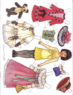 Martha Pullen Calendar - DollsDoOldDays - Picasa Web Albums* For lots of free paper dolls International Paper Doll Society #ArielleGabriel #ArtrA thanks to Pinterest paper doll collectors for sharing *