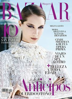 Melina Gesto for Harper's Bazaar Argentina February 2016 cover Cindy Sherman, Fashion Books, Fashion News, Editorial Photography, Fashion Photography, Fashion Magazine Cover, Magazine Covers, Harper's Bazaar, Famous Models
