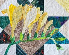 Quilt Pattern Columbine Applique Art Quilt by JaneLKakaley
