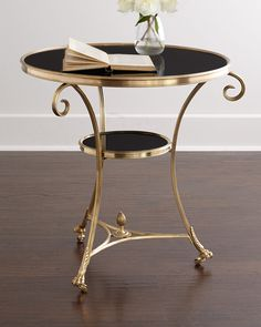 Black Granite Side Table by Global Views at Neiman Marcus.