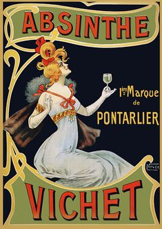 Vintage French Absinthe Poster                                                                                                                                                                                 More
