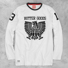Butter Goods No Boundaries L/S Jersey available in store now : Butter, Store, Long Sleeve, Instagram Posts, Sleeves, Mens Tops, T Shirt, Fashion, Supreme T Shirt