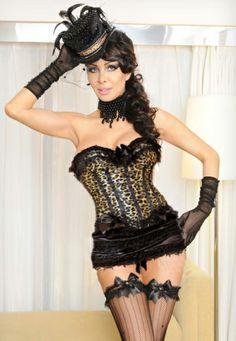 Elegant leopard print Corset-Corsets & Bustiers-Sexy Lingerie