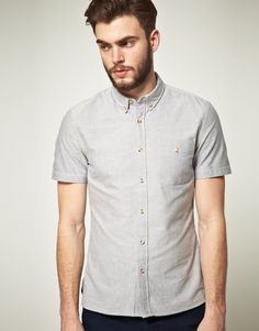 Asos Short Sleeve Oxford Shirt