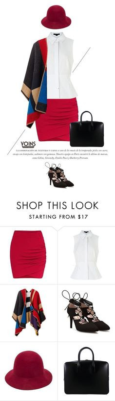 """Yoins Mini Skirt"" by anja-173 on Polyvore featuring Alexander Wang, Burberry, Yves Saint Laurent, vintage and yoins"