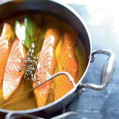Saumon basse température et pesto de risoni à l'oseille de Julie Andrieu
