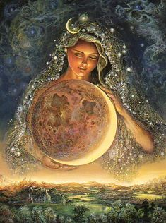 ✯*Moon Goddess :: Artist Josephine Wall*✯ This was my Christmas cards last year.