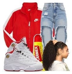 """Fav Color ❤"" by ma-shordy15 ❤ liked on Polyvore featuring NIKE and Carmex"