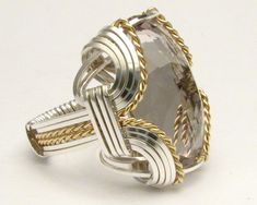 Wire Wrapped Prasiolite  Ring by JandSGems.deviantart.com on @deviantART