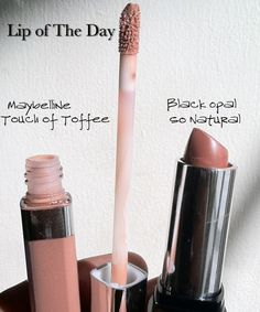 Fantastic inexpensive nude lip combo--by Maybelline and Black Opal! Click the link to see more of my favorite neutral lip looks!