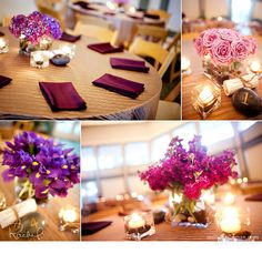 love Wedding Centerpieces, Tablescapes, June, Wedding Ideas, Thoughts, Table Decorations, Future, Purple, Pretty