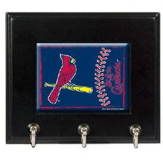 St. Louis Cardinals MLB Wood Keyhook Rack - FREE SHIPPING $35.00