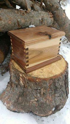 Maple,Walnut box.