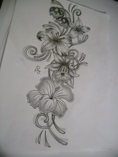 black and white flower tattoo designs - Google Search