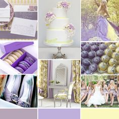 Lavender and Yellow Wedding Inspiration