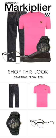 """Markiplier"" by wearwhatyouwatch ❤ liked on Polyvore featuring H&M, Lyle & Scott, adidas, Fendi, Acne Studios, wearwhatyouwatch, youtube and menswear"