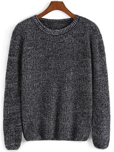 Shop Black Round Neck Loose Knit Sweater online. SheIn offers Black Round Neck Loose Knit Sweater & more to fit your fashionable needs.