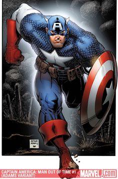 #Captain #America #Fan #Art. (CAPTAIN AMERICA: MAN OUT OF TIME #1 (of 5) By: Arthur Adams. (THE * 5 * STÅR * ÅWARD * OF: * AW YEAH, IT'S MAJOR ÅWESOMENESS!!!™) [THANK U 4 PINNING!!<·><]<©>ÅÅÅ+(OB4E)