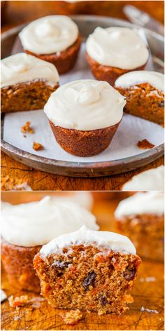 Carrot Cake Cupcakes with Vanilla Cream Cheese Frosting - My favorite foolproof recipe for soft, moist, flavorful carrot cake cupcakes!