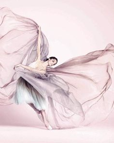 Dorothée Gilbert stars in the Spring/Summer 2012 Repetto campaign.  Gilbert (French, born 1983) dances with Paris Opera Ballet. Repetto was created in 1947 by Rose Repetto at the request of her son, famed dancer Roland Petit. Gilbert is photographed dancing in an ombre tutu and Repetto pointe shoes.