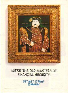 Snoopy Henry VIII Metlife Ad