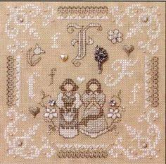 F is For Friends & Flowers Teenie - Cross Stitch Kit