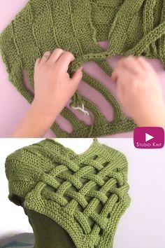 Easy Knitting Patterns, Knitting Stitches, Free Knitting, Baby Knitting, Start Knitting, Shawl Patterns, Knitting Machine, Vintage Knitting, Crochet Scarf Patterns