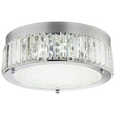 Possini Euro Paisano 15 3/4-Inch-W Crystal LED Ceiling Light - #EU7K585 - Euro Style Lighting