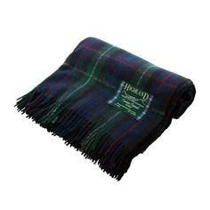 Highland Tartan Tweeds Scottish 100% Wool Rug Blanket A00175: MacKenzie