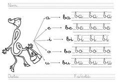 Resultado de imagen para actividades letra n cursiva