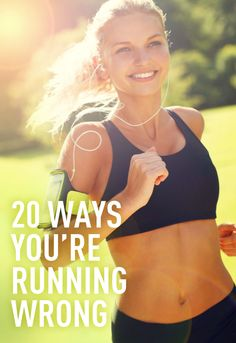 20 WAYS YOUR RUNNING WRONG: Running wrong could slow you down, cause injuries that set you back, or just make you look like a fool. Here you'll find a list of 20 common running mistakes and the easy ways to fix them. You'll learn what the perfect running stride looks like, the best warm up moves, what the best running form looks like, and much more! Here's everything you need to know whether you're a beginner or seasoned marathoner!
