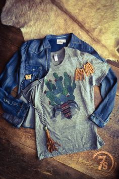 The Prickly Pear - cactus graphic tee from Savannah Sevens Western Chic