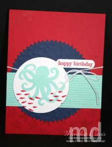 Stampin' Up! Sea Street stamp set, Maritime Designer Series Paper, Starburst framelits