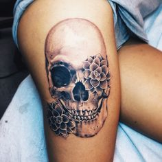 TATTOOS.ORG - My Skull with succulents tattoo Submit Your Tattoo...