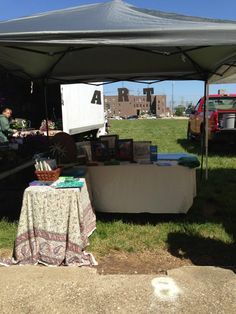 Art Council's booth at the Farmer's Market on Friday