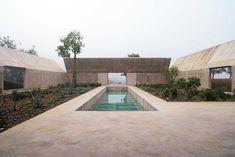 Outdoor pool, Villa Além © Archive Olgiati. Read the full story on kvadratinterwoven.com