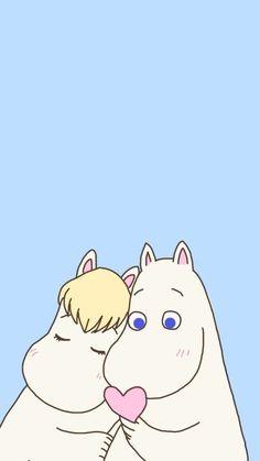 Moomin Wallpaper, Wallpaper Backgrounds, Iphone Wallpaper, Marimekko Wallpaper, Phone Backgrounds, Les Moomins, Moomin Valley, Tove Jansson, Illustration