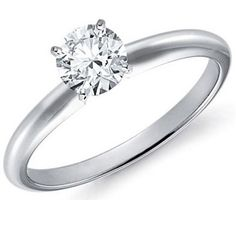 1/3 Carat White Gold Diamond Solitaire Ring