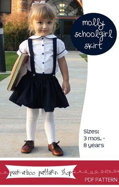 Molly Schoolgirl Skirt: 3 mos. - 8 years,