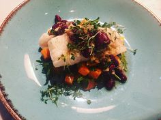 Roasted cod with kidney beans salsa