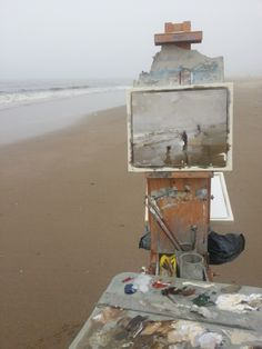 Roos Schuring New paintings- Seascapes and landscapes plein air: Seascape spring 16 Fog (available)