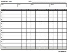 Teacher's Attendance and Roll Book | To be, Teaching and Track