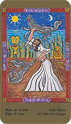 Page of Cups from the Kazanlar Tarot at TarotAdvice Tarot Reading, Tarot Decks, Tarot Cards, Art Gallery, Cups, Happy, Image, Tarot Card Decks, Art Museum